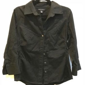 Banana Republic black button down shirt